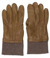 Lanvin Leather Cashmere-Trimmed Gloves