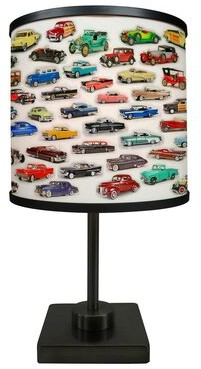 "Latitude Run Screven Car Collage 16.88"" Table Lamp"