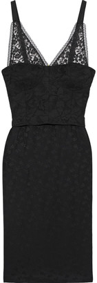 Stella McCartney Tess Layered Cotton-blend Lace And Satin-jacquard Dress