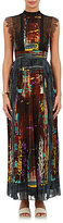 Valentino Women's Tie-Dyed Cotton Maxi Dress-GREEN