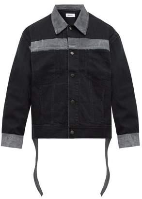 Ambush Reflective Panel Denim Jacket - Mens - Black