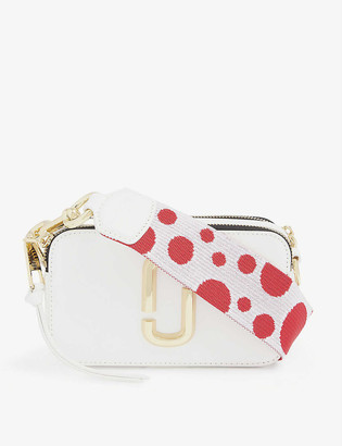 Marc Jacobs Snapshot graphic-strap leather cross-body bag