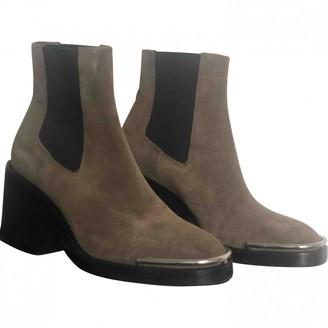 Alexander Wang Green Suede Boots