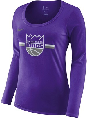 Nike Women's Purple Sacramento Kings Essential Logo Performance Long Sleeve T-Shirt