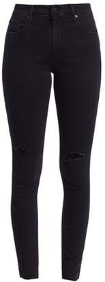 AG Jeans Farrah High-Rise Skinny Distressed Jeans