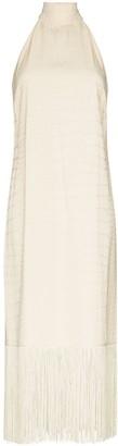 Taller Marmo Olympia Croc Effect Halterneck Dress
