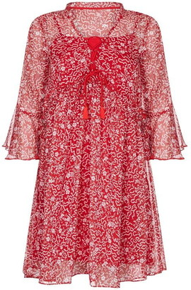 Yumi Abstract Floral Print Tunic Dress