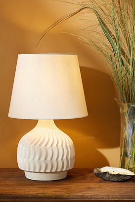 Anthropologie Jessie Ceramic Table Lamp By in White Size M