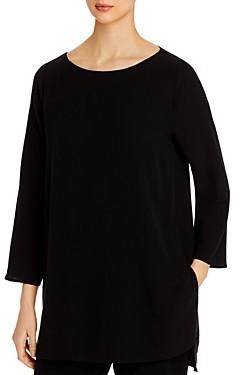 Eileen Fisher Silk Ballet Neck Tunic - 100% Exclusive