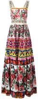 Dolce & Gabbana Mambo print maxi dress - women - Silk/Cotton - 38