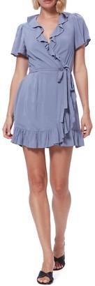 Paige Cardamom Ruffled Wrap Dress