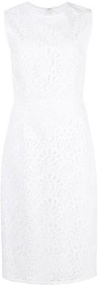 Carolina Herrera Cut-Out Detail Sheath Dress