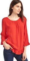 Gap Solid ruffle blouse