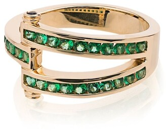 Retrouvaí 14kt yellow gold Magna emerald ring