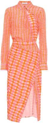 Altuzarra Constantina checked silk dress