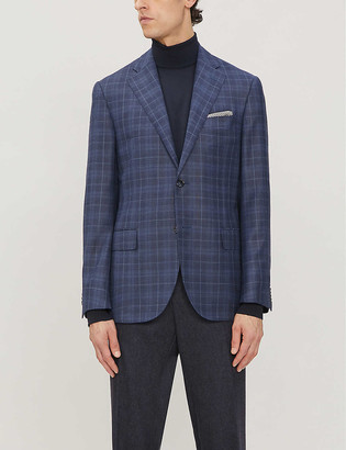 Corneliani Single breasted wool suit jacket