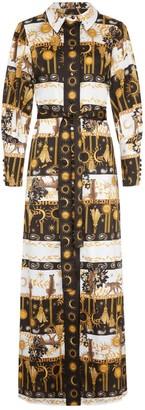 Hayley Menzies Enchanted Leopard Maxi Shirt Dress