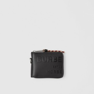 Burberry Horseferry Print Leather Ziparound Wallet