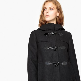La Redoute Collections Short Hooded Duffle Coat with Pockets