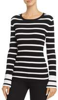 Theory Prosecco Striped Crewneck Sweater