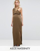 Asos One Shoulder Drape Maxi Dress