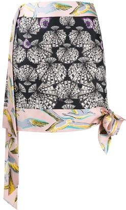 Emilio Pucci Pre Owned Printed Mini Skirt