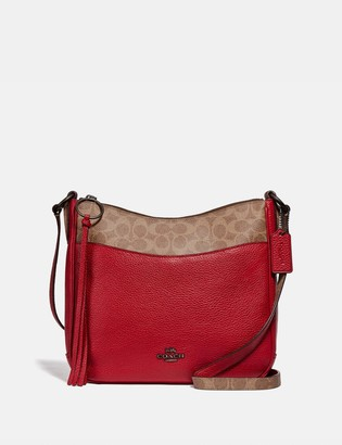 Coach Chaise Crossbody With Signature Canvas Blocking
