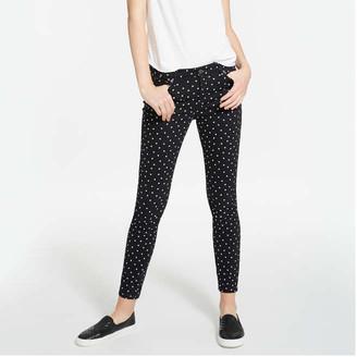 Joe Fresh Women's Polka Dot Jeans, Black (Size 27)