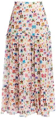 Chufy Iquitos Print Ruffled Maxi Skirt
