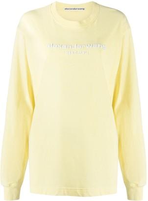 Alexander Wang Logo-Print Long-Sleeve Sweatshirt