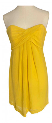 Nicole Miller Yellow Silk Skirt for Women