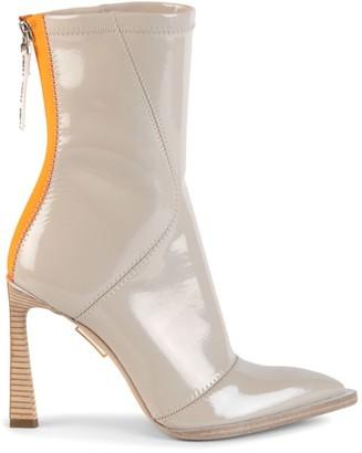 Fendi Patent Neoprene Ankle Boots