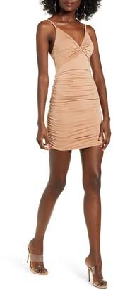 Tiger Mist Gabby Ruched Body-Con Minidress