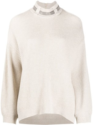 Brunello Cucinelli Cold Shoulder Jumper