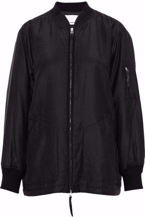 Alexander Wang Silk And Cotton-Blend Bomber Jacket