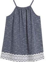 River Island Mini girls blue trapeze dress