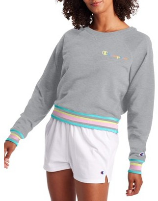 Champion Womens Campus French Terry Crew Neck Sweatshirt