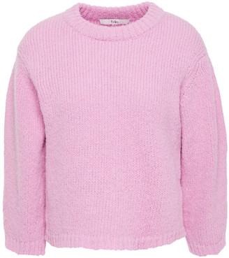 Tibi Cropped Alpaca-blend Sweater