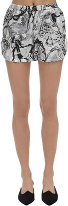 Stella McCartney Margot Racing Print Silk Pajama Shorts