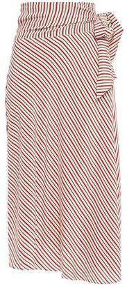 Vanessa Bruno Striped Silk Midi Wrap Skirt