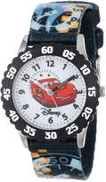 Disney Kids' W000371 Cars Stainless Steel Time Teacher Black Bezel Printed Strap Watch
