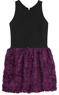 Aqua Girls' Floral Applique Dress, Big Kid - 100% Exclusive