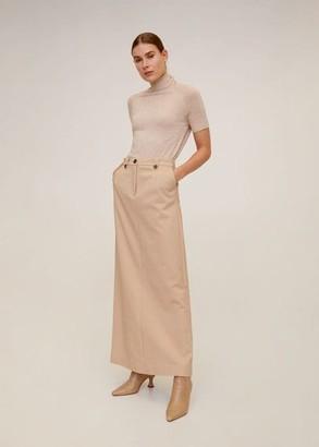 MANGO Flared long skirt black - 6 - Women