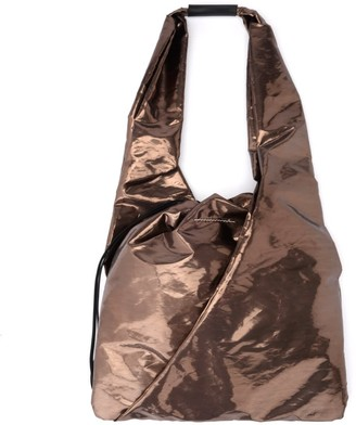 MM6 MAISON MARGIELA Shopper In Bronze Laminated Fabric