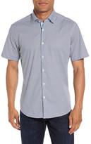 Stone Rose Geometric Print Sport Shirt
