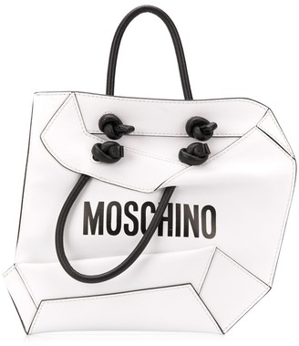 Moschino Crumpled Shopper Clutch
