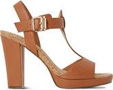 Dune Ismin leather heeled sandals