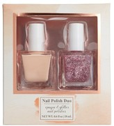 Lulu 2-Pack Glitter Nail Polish Set - Nude/ Purple