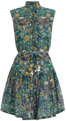 Zimmermann Edie Drop Waist Short Dress