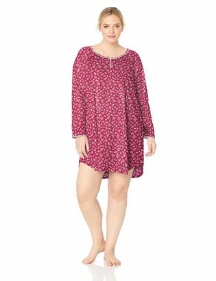 Karen Neuburger Women's Long Sleeve Nightshirt Nightgown Pajama Dress Pj
